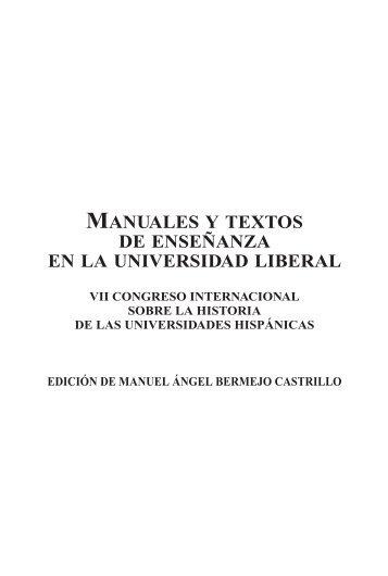 manuales y textos de enseñanza en la universidad liberal