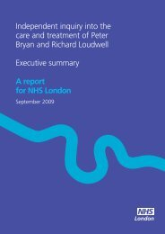 Independent inquiry into the care and treatment ... - Hundred Families