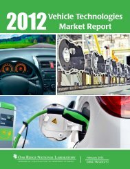 2012 Vehicle Technologies Market Report - Center for ...