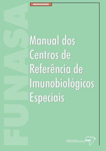 Manual dos Centro de Referência de Imunobiológicos Especiais