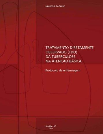 Tratamento Diretamente Observado (TDO) - BVS Ministério da Saúde