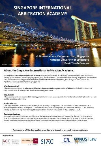 singapore international arbitration academy - Centre for ...