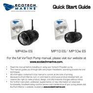 Quick Start Guide - EcoTech Marine
