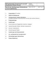 Bericht der Arbeitsgruppe Infrastrukturen an die Projektleitung