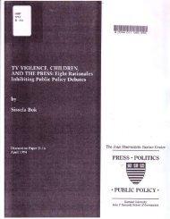 TV Violence, Children, and the Press - Joan Shorenstein Center on ...