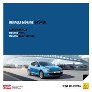 RENAULT MÉGANE 5-TÜRER - Renault Preislisten