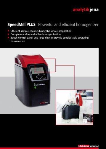 Speedmill PLUS | Powerful and efficient ... - Analytik Jena AG
