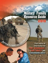 Military Family Resource Guide - 2010 - Keep Trees