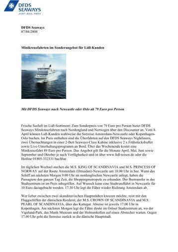 DFDS Seaways 07/04/2008 Minikreuzfahrten im ... - DFDS.com