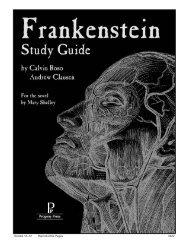 Frankenstein - Progeny Press