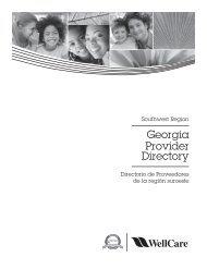 Georgia Provider Directory - Southwest Region - WellCare