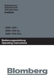 Bedienungsanleitung Operating instructions SSM 1550 i ... - Blomberg