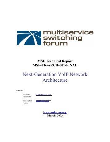Next-Generation VoIP Network Architecture - Light Reading