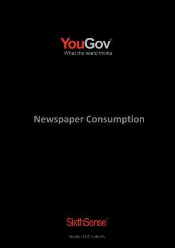 Newspaper Consumption - SixthSense - YouGov