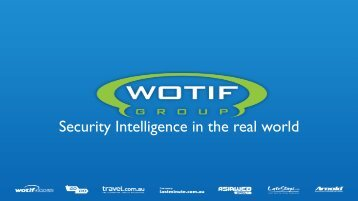 Security Intelligence in the real world