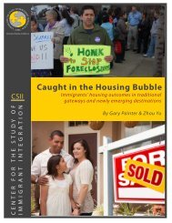 Caught in the Housing Bubble - Center for the Study of Immigrant ...