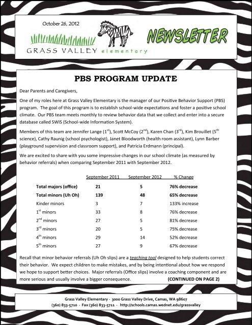 Grass Valley News-October 26, 2012 - Camas School District