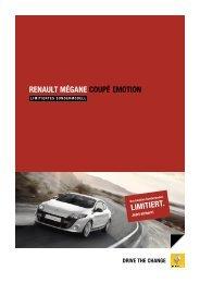 RENAULT MÉGANE COUPÉ EMOTION - Renault Preislisten