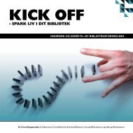 Kick Off - Spark liv i dit bibliotek - samlet - Københavns Biblioteker