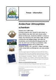 Andechser Atmosphäre schenken - Kloster Andechs