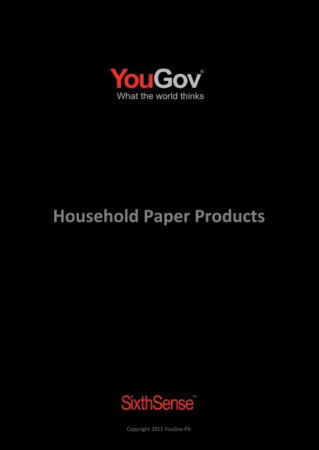 Household Paper Products - SixthSense - YouGov