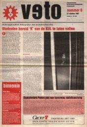 nummer 6 Studenten bereid 'K' van de KULte ... - archief van Veto