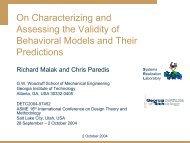 slides (pdf) - the Systems Realization Laboratory - Georgia Institute ...