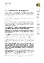 The New Lotus Exige S - 2010 Model Year - lotus elise