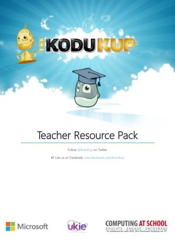 Kodu Kup Teachers' Pack - Somerset Learning Platform