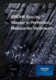 GROHE EcoJoy™ Wasser in Perfektion. Reduzierter Verbrauch.