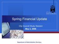 Spring Financial Update - May 2, 2006 - City of Santa Rosa