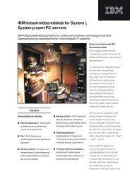 IBM Katastrofeberedskab for System i, System p samt PC-servere