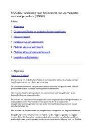 NCC/IBL Handleiding voor het invoeren van usernummers ... - OCLC