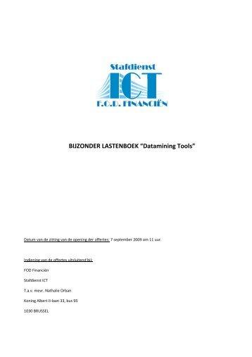 "BIJZONDER LASTENBOEK ""Datamining Tools"" - SeniorenNet"