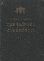 1936. - Magyar Királyi Csendőrség