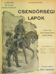 CSENDŐRSÉGI LAPOK - Magyar Királyi Csendőrség
