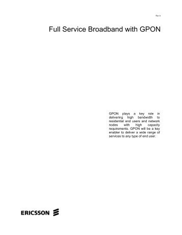 Full Service Broadband with GPON - Light Reading