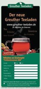 Gewinnen Sie 25 Familien-Tageskarten ... - Greuther Teeladen - Seite 2