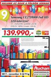 Samsung UE37D5000 Full HD LED-televízió* - Auchan