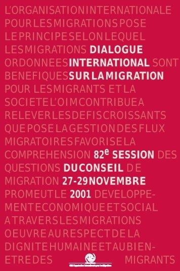 Dialogue international sur la migration - IOM Publications