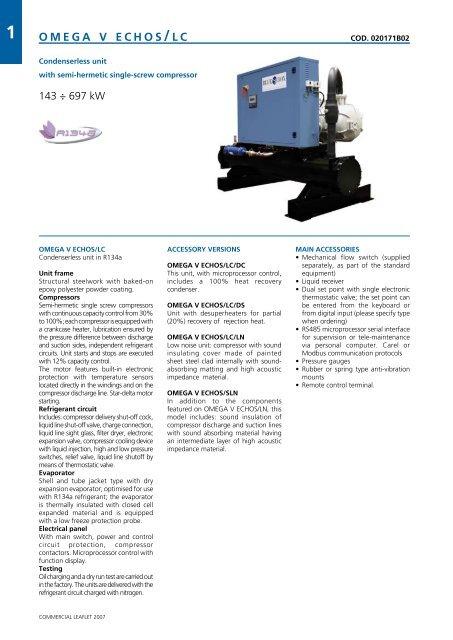OMEGA V ECHOS-LC B pdf - Industrial Air