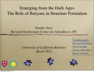 Emerging from the Dark Ages The Role of Baryons in Structure ...