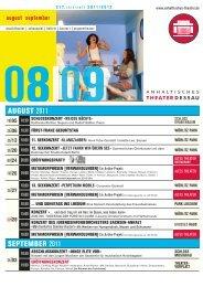 AUGUST 2011 SEPTEMBER 2011 - Anhaltisches Theater Dessau