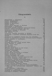 7 TÁRGYMUTATO 357-387p.pdf - Magyar Királyi Csendőrség