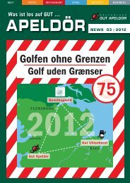 Apeldör NEWS 03 | 2012 - Golf Club Gut Apeldoer