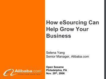 How eSourcing Can Help Grow Your Business - Alibaba