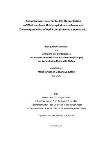 Auswirkungen von erhöhter Co2-Konzentration auf Photosynthese ...