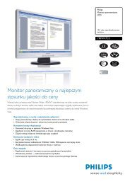 190WV7CS/00 Philips Monitor panoramiczny LCD - Action