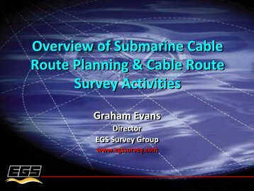 Overview of Submarine Cable Route Planning & Cable Route ...