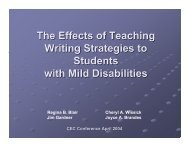 Writing Strategies Students with mild disabilities
